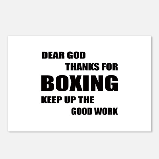 Dear God Thanks For Boxin Postcards (Package of 8)