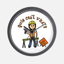 Light Construction Worker Wall Clock