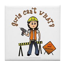 Light Construction Worker Tile Coaster