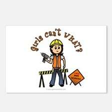 Light Construction Worker Postcards (Package of 8)