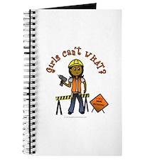 Dark Construction Worker Journal