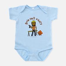 Dark Construction Worker Infant Bodysuit