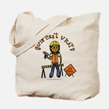 Dark Construction Worker Tote Bag