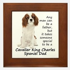 Spaniel Dad Framed Tile