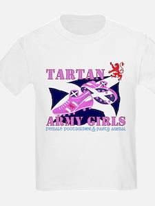 Scotland girls Tartan Army T-Shirt