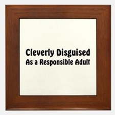 Cleverly Disguised Framed Tile