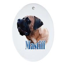 Mastiff(apricot)Name Oval Ornament