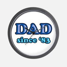 Dad Since 1983 Father's Day Wall Clock