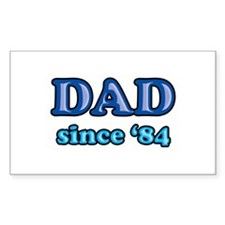 Dad Since 1984 Father's Day Rectangle Decal