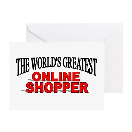 """""""The World's Greatest Online Shopper"""" Greeting Car"""