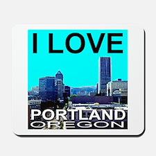 I Love Portland, Oregon Mousepad