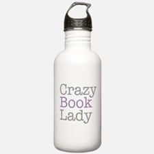Crazy Book Lady Water Bottle