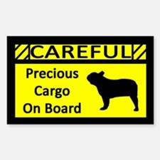 Precious Cargo French Bulldog Sticker (Rect)