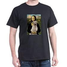 Mona Lisa & Yellow Lab #2 Ash Grey T-Shirt