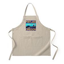 Portland, Oregon I Love You! BBQ Apron