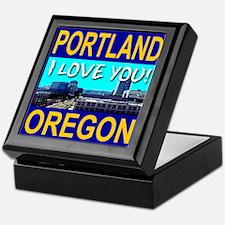 Portland, Oregon I Love You! Keepsake Box