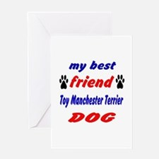 My Best Friend Toy Manchester Terrie Greeting Card
