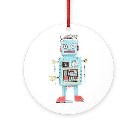 Classic Tin Robot Ornament (Round)