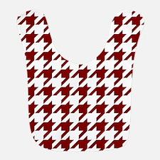 Houndstooth Checkered: Maroon (Dark Red) Bib