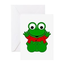 Sagittarius Cartoon Frog Greeting Card