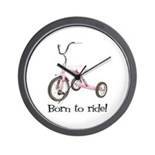 Born to Ride Tricycle Wall Clock