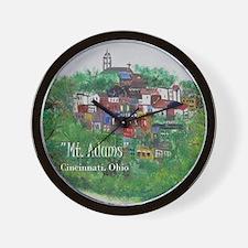 Mt. Adams - Cincinnati, Ohio, with titl Wall Clock
