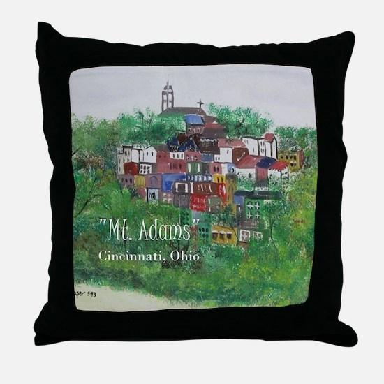 Mt. Adams - Cincinnati, Ohio, with ti Throw Pillow