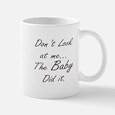 Blame Baby (Black) Mugs