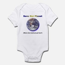 The Only Planet with Beer! Infant Bodysuit