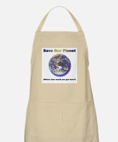 The Only Planet with Beer! BBQ Apron