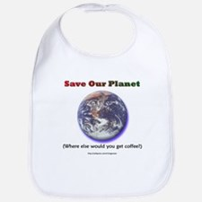 The Only Planet with Coffee! Bib
