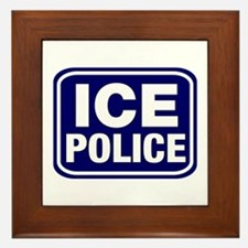 ICE Police Framed Tile