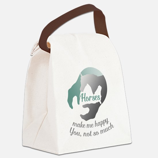 Cute Horse shelter Canvas Lunch Bag
