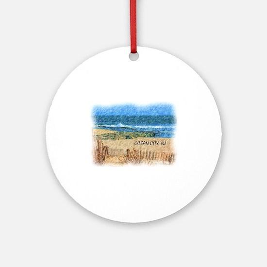 Unique Jersey shore Round Ornament