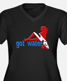 Got Water Women's Plus Size V-Neck Dark T-Shirt