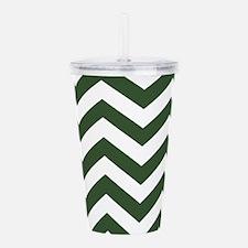Green, Pine: Chevron P Acrylic Double-wall Tumbler