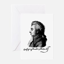 Wolfgang Amadeus Mozart Greeting Cards (Package of