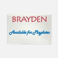 Brayden - Available for Playd Rectangle Magnet (10