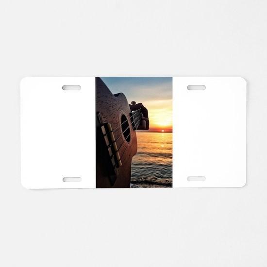 Ukulele Aluminum License Plate