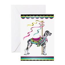 Great Dane Merle UC Carousel Greeting Card