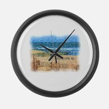 Ocean City NJ Beach Large Wall Clock