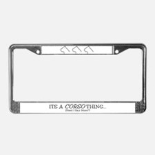 It's a Corso Thing License Plate Frame