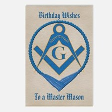 Masonic Birthday Postcards (Package of 8)