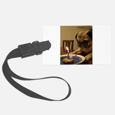 Happy Birthday Pug Luggage Tag