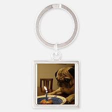 Happy Birthday Pug Keychains