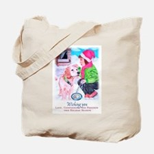 Girl Unchains Dog - Holiday Tote Bag