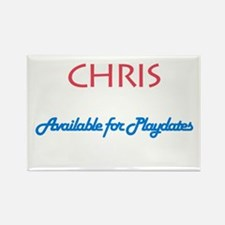 Chris - Available for Playdat Rectangle Magnet (10