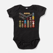 Cute Skateboarding Baby Bodysuit