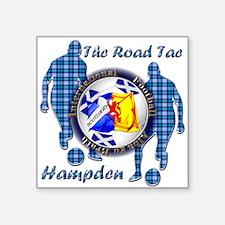 Scotland Football Blue Tartan Together Sticker