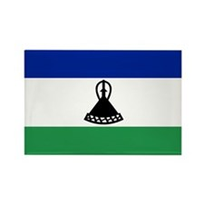 Lesotho Rectangle Magnet